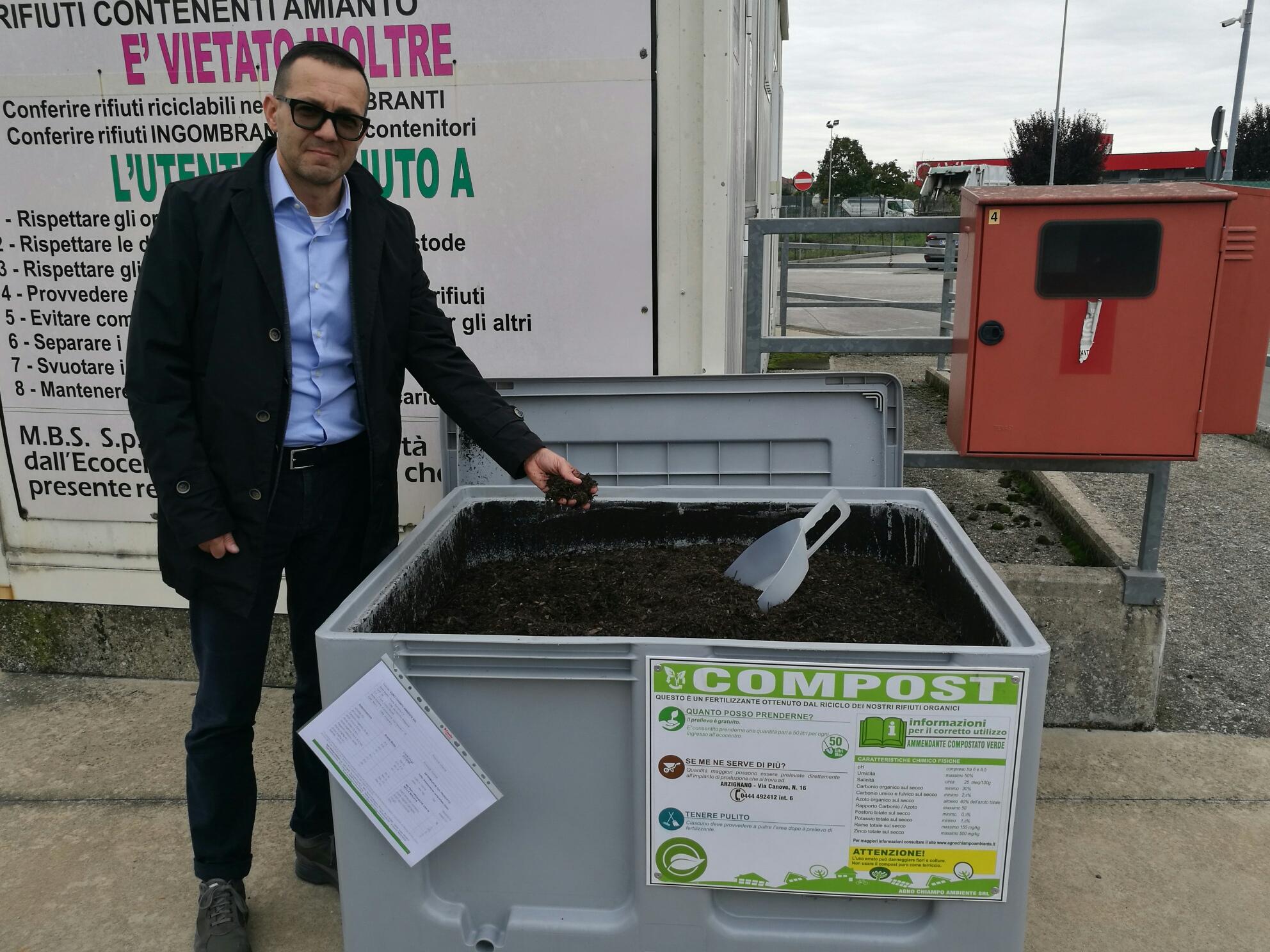 """""""Green compost"""", un aiuto gratuito e naturale per la terra. Agno Chiampo Ambiente tra le prime aziende in Italia ad attivare questo esempio di economia circolare - Corriere Vicentino"""